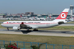 TC-JNC Turkish Airlines, flygbuss A330-203 som namnges KUSHIMOTO Arkivfoto