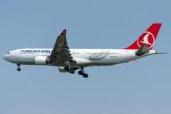 TC-JNE Turkish Airlines, Airbus A330-203 named KAYSERI Stock Image