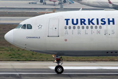 TC-JNF Turkish Airlines Aerobus A330-202 Canakkale Obrazy Royalty Free