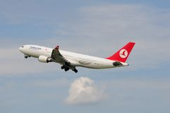 TC-JNF Turkish Airlines Airbus Royalty Free Stock Photos