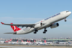 TC-JNL Turkish Airlines, Airbus A330-343 named TRABZON Stock Images