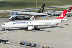 TC-JNT Turkish Airlines Aerobus A330-303 Obraz Stock