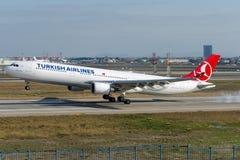 TC-JOC土耳其航空空中客车A330-303 GOBEKLITEPE 免版税库存图片