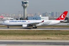 TC-JOC,土耳其航空空中客车A330-303 GOBEKLITEPE 库存图片