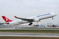TC-JOD土耳其航空,空中客车A330-303 免版税库存图片