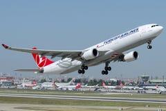 TC-JOE土耳其航空, A330-303名为迪亚巴克尔的空中客车 库存图片