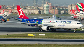 TC-JOH土耳其航空,空中客车A330-303 库存照片