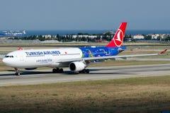 TC-JOH土耳其航空,空中客车A330-303 免版税库存照片