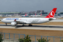 TC-JOM Turkish Airlines, Airbus A330-302 named EFES (EPHESUS) Royalty Free Stock Photo
