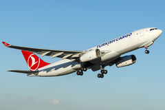 TC-JOV Turkish Airlines Cargo , Airbus A330-200F royalty free stock image