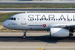 TC-JPE Turkish Airlines Airbus A320-232 GUMUSHANE Royalty Free Stock Photo