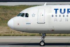 TC-JPK Turkish Airlines Aerobus A320-232 ERDEK Obraz Royalty Free