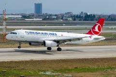 TC-JPK Turkish Airlines Aerobus A320-232 ERDEK Zdjęcia Royalty Free