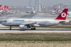 TC-JPN Turkish Airlines, Aerobus A320-232 MARDIN Obrazy Royalty Free