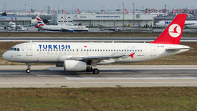 TC-JPS Turkish Airlines, Airbus A320-232 named BURDUR Royalty Free Stock Images