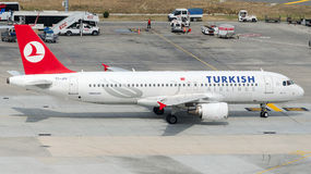 TC-JPY Turkish Airlines , Airbus A320-214 named BEYKOZ Stock Image