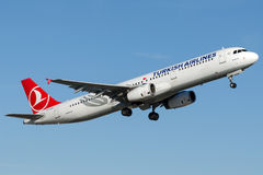 TC-JRD Turkish Airlines , Airbus A321-231 named BALIKESIR Royalty Free Stock Photos