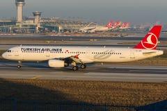 TC-JRE土耳其航空, A321-231名为BEYPAZARI的空中客车 库存图片
