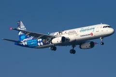 TC-JRG土耳其航空, A321-231名为菲尼凯的空中客车 库存照片