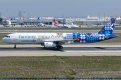 TC-JRG Turkish Airlines, Aerobus A321-231 z odkrywają potencjalną liberię, zwany FINIKE Zdjęcia Royalty Free