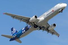 TC-JRG Turkish Airlines, Aerobus A321-231 zwany FINIKE Zdjęcia Royalty Free