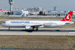 TC-JRI Turkish Airlines, Aerobus A321-231 zwany ADIYAMAN Obrazy Stock