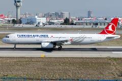 TC-JRI Turkish Airlines , Airbus A321-231 named ADIYAMAN Stock Images