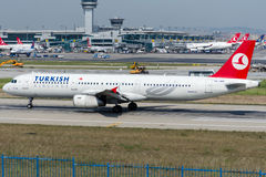 TC-JRK Turkish Airlines, Airbus A321-231 named BATMAN Royalty Free Stock Photo