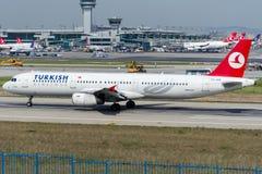 TC-JRK Turkish Airlines, Airbus A321-231 nomeado BATMAN Foto de Stock Royalty Free