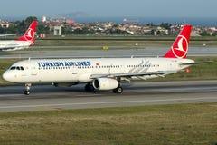TC-JRN Turkish Airlines, flygbuss A321-231 som namnges SARIYER Fotografering för Bildbyråer