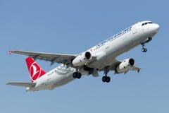 TC-JRP Turkish Airlines Aerobus A321-231 URGUP Obraz Stock