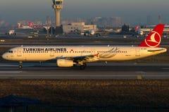TC-JRZ Turkish Airlines, Aerobus A321-231 zwany MALTEPE Obraz Stock
