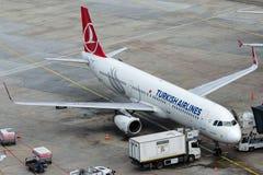 TC-JSE Turkish Airlines, Aerobus A321-231 zwany KIZILIRMAK Obraz Stock