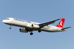 TC-JSF Turkish Airlines Aerobus A321-231 Obrazy Royalty Free