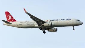 TC-JSG土耳其航空, A321-231名为奥尔杜的空中客车 图库摄影