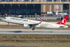 TC-JSI Turkish Airlines, Aerobus A321-231 zwany TUNCELI Zdjęcia Stock