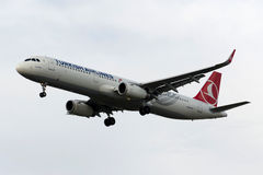 TC-JSJ Turkish Airlines Airbus A321-231 KECIOREN Royalty Free Stock Images