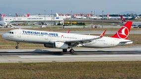 TC-JSJ Turkish Airlines, Airbus A321-200 nombrado KECIOREN Foto de archivo libre de regalías