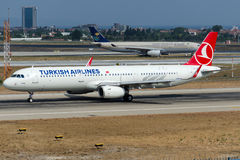 TC-JSM Turkish Airlines, Airbus A321-231 named AYDER Royalty Free Stock Image