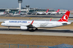 TC-JSR Turkish Airlines Airlines, Airbus A321-231 named KIRKLARELI Stock Images
