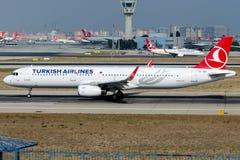 TC-JSV Turkish Airlines, Aerobus A321-231 zwany ILGIN Zdjęcie Royalty Free