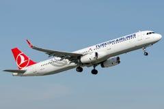 TC-JSY Turkish Airlines Airbus A321-231 named MERZIFON Stock Image