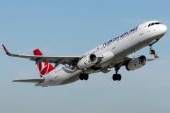 TC-JSZ Turkish Airlines, Aerobus A321-231 zwany CANAKKALE Obraz Stock