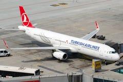 TC-JTA Turkish Airlines, Aerobus A321-231 zwany GELIBOLU Zdjęcie Stock
