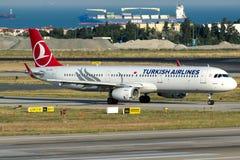TC-JTG Turkish Airlines, Aerobus A321-231 zwany AVCILAR Zdjęcia Stock
