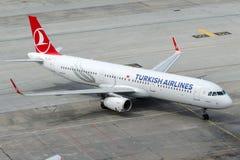 TC-JTH Turkish Airlines, Aerobus A321-231 zwany AYVACIK Obrazy Royalty Free