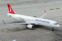 TC-JTH Turkish Airlines, Airbus A321-231 named AYVACIK Royalty Free Stock Images