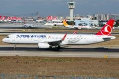 TC-JTI Turkish Airlines, Airbus A321-200 genannt BUYUKCEKMECE Lizenzfreies Stockfoto