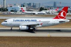 TC-JUB土耳其航空, A319-132名为YESILKOY的空中客车 库存照片