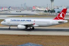 TC-JUE Turkish Airlines, Airbus A320-232 named AKHISAR Royalty Free Stock Photos